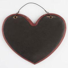 Heart Wood Chalkboard Sign