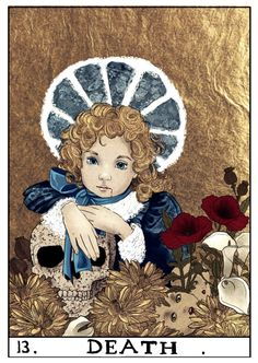 VC Tarot Cards 13 - Death - Claudia - nothing-box Pick A Tarot Card, Tarot Cards, Major Arcana Cards, Tarot Major Arcana, Vampires, Anne Rice Books, Lestat And Louis, Tarot Death, The Vampire Chronicles