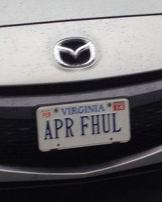 April Fool........funny!  Apr Full or U Apr Ful...  ha! Clever!  He reports.....