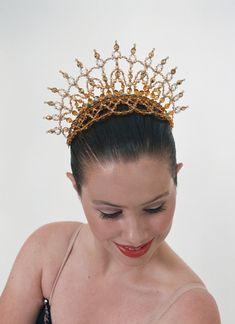 beaded ballet tiara