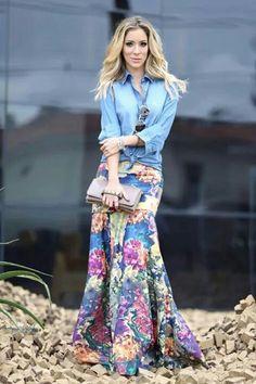 Modest Floral Maxi Skirt