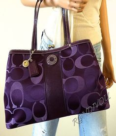 Many Types Of Women's Handbags. For most women, buying an authentic designer bag is not something to hurry into. Because they handbags can easily be so high priced, most women generally worry over their selections before making an actual bag acquisition. Purple Love, All Things Purple, Purple Stuff, Coach Bags Outlet, Cheap Coach Bags, Discount Coach Bags, Mk Outlet, Coach Handbags, Coach Purses