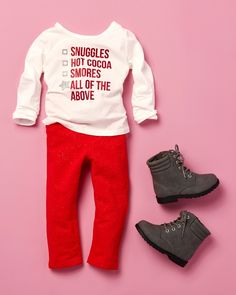 Holiday checklist | Toddler girls' fashion | Kids' clothes | Graphic tee | Jeggings | Boots | The Children's Place