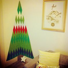 Our handmade apartment friendly christmas tree.