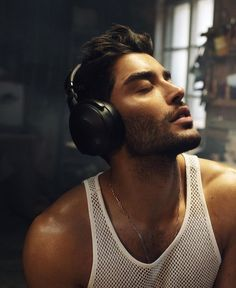 Vintage Fashion Sketches, Ocean Blue Eyes, Toni Mahfud, Over Ear Headphones, Headset, Sexy Men, Handsome, Photo And Video, Instagram
