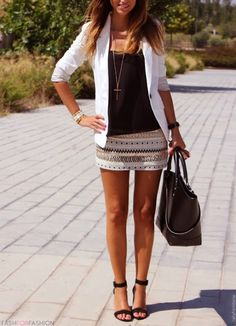 fashforfashion -♛ STYLE INSPIRATIONS♛ Love the aztec prints!