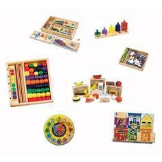 Amazon.com: Montessori Style Wooden Educational & Developmental Toys by Melissa and Doug: Toys & Games