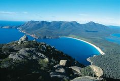 Wineglass Bay, seen from the summit of Mt Amos | 10 Reasons To Fall In Love With Tasmania http://www.travelnation.co.uk/blog/5-reasons-to-fall-in-love-with-tasmania