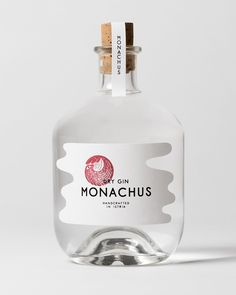 Logo and packaging design by Swedish studio Bedow for Croatian small-batch gin distillery Monachus. Brand Packaging, Packaging Design, Packaging Ideas, Gin Distillery, Label Shapes, Japanese Packaging, Dry Gin, Graphic Design Posters, Custom Labels
