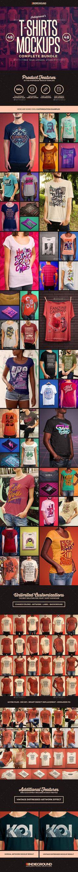 Tshirt Mockups Bundle — Photoshop PSD #design #graphic • Download ➝ https://graphicriver.net/item/tshirt-mockups-bundle/19430131?ref=pxcr