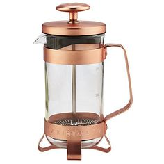 Want this coffee set to go with my cocktail set  Barista & Co Copper 3 Cup Cafetiere - from Lakeland