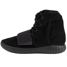 """Adidas Mens Yeezy Boost 750 """"Triple Black"""" Black/Cblack Suede (247060 RSD) ❤ liked on Polyvore featuring men's fashion and men's shoes"""
