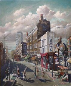 My painting 'East End Crossing' has been selected for The New English Art Club's Annual Open Exhibition at the Mall Galleries, London 16 and 25 June 2016.