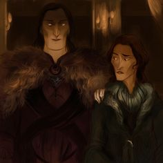"Awesome Cover Art of Roose Bolton and Catelyn Stark kallielef: ""This is a cold man. """