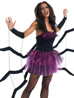 could make and use black dress Black Widow Spider Costume