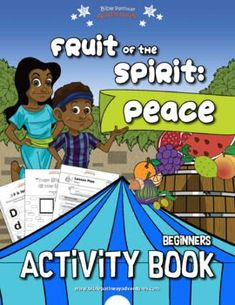 Peace: Fruit of the Spirit Activity Book for Beginners | Fruit of the Spirit lessons for kindergarten | Fruit of the Spirit lessons Sunday School | Instant download! Bible Activities, Kindergarten Activities, Learning Activities, Activity Books, Sabbath School Lesson, Daniel And The Lions, Fun Worksheets, Fruit Of The Spirit, Sunday School Lessons