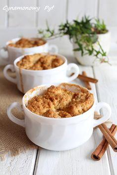 Cynamonowy Cobbler z prażonymi jabłkami ( papierówkami ) Cobbler, Cereal, Food And Drink, Breakfast, Recipes, Gastronomia, Morning Coffee, Recipies, Ripped Recipes