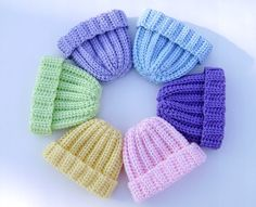 Crochet Baby Hat Newborn Beanie Infant 0 to 3 mo by PrissysPlace, $12.00