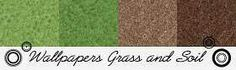 Morandi Sisters Printable Wallpapers - Grass & Soil @ morandimicroworld.blogspot.com