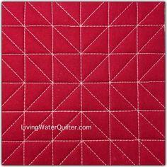 Easy Free Motion Quilting Designs Straight Lines 53 Trendy Ideas Quilting Stencils, Quilting Templates, Quilting Rulers, Quilting Tutorials, Quilting Tips, Quilting Stitch Patterns, Machine Quilting Patterns, Quilt Stitching, Quilt Patterns