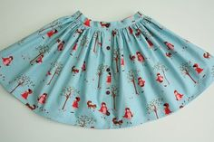 Little Red Riding Hood skirt with buttonhole elastic. Baby Frock Pattern, Frock Patterns, Baby Clothes Patterns, Skirt Patterns Sewing, Clothing Patterns, Mccalls Patterns, Fabric Patterns, Toddler Fashion, Kids Fashion