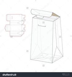 Pillow Type Retail Box With Die Line Template Stock Vector Illustration 315214880 : Shutterstock