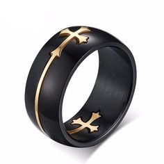 Cheap rings fashion jewelry, Buy Quality ring jewelry directly from China wedding band ring Suppliers: Louleur 2017 Fashion Stainless Steel Separable Cross Ring Gold/Silver Color Wedding Band Rings Jewelry for Men Women bague Gold Jewelry, Jewelry Rings, Jewelry Accessories, Women Jewelry, Jewelry Design, Cross Jewelry, Luxury Jewelry, Kids Jewelry, Steel Jewelry