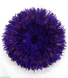Juju Hat Bamileke Ceremonial Purple Feathers by africadirect, $295.00