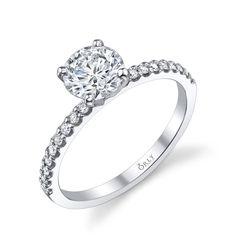 Round Brilliant Cut Diamond Engagement Ring at Orly Diamonds