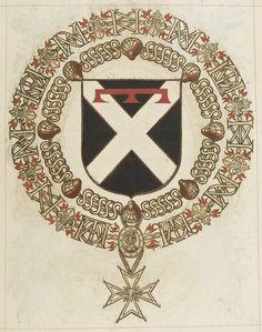 Tout sur l'héraldique : dessin de blasons et d'armoiries: Armorial du Saint-Esprit : Louis d'ANGENNES