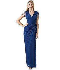 dae8ee1469b Adrianna Papell Ruched VNeck Gown  Dillards Something Borrowed