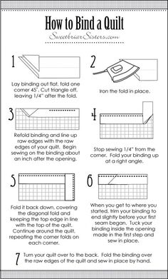How to Bind a Quilt.