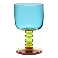 Marimekko Sukat Makkaralla Turquoise Goblet $35.00...isn't it beautiful?