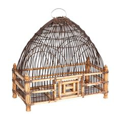 18th Century Mughal Ivory Birdcage | From a unique collection of antique and modern bird cages at http://www.1stdibs.com/furniture/more-furniture-collectibles/bird-cages/