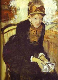 Degas - Portrait of Mary Cassat. c. 1880-84