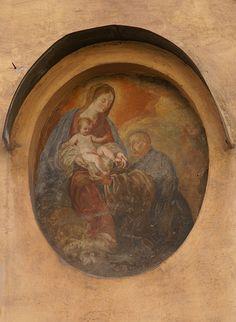 The reason for the season. Mural at Piazza di Sant'Andrea della Valle a Roma...