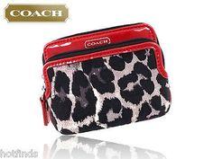 749ca41a9cc7 Details about NWT Coach Park Ocelot Leopard Print Double Zip Wallet Clutch  Wristlet F52097 NEW