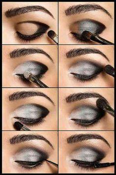 Tuto image de maquillage en gris