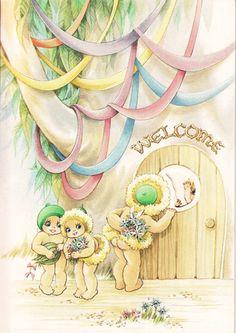 Soloillustratori: Cecilia May Gibbs Fairy Land, Fairy Tales, Rabbit Art, Baby Tattoos, Fairytale Art, Flower Fairies, Birthday Images, Children's Book Illustration, Faeries