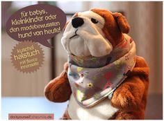 Kuschel-Halstuch mit warmer Fleece-Innenseite, für Babys und Kleinkinder, einfach selber nähen (Nähanleitung & Schnittmuster)