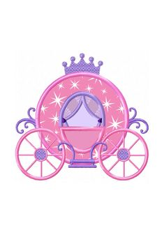 Magical Princess Carriage 2.5 Circles Sticker Sheets Print or Digital Download 2.5