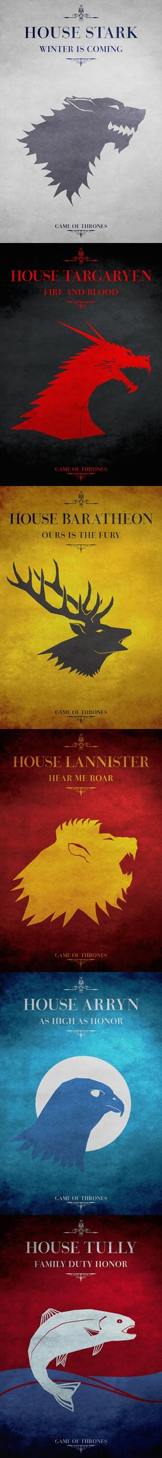 Game of Thrones Posters | Things for Geeks.... i love this!!!