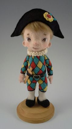 Needle Felted Art Doll OOAK Designer Toy by StevenShipmanArts