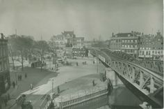 Het luchtspoor over het Hofplein in Rotterdam (1920)