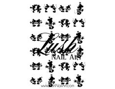 Mickey & Minnie Mouse Silhouette Love Disney Nail Art Water Transfer Decal - Waterslide Paper - Water Slide Paper