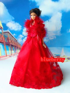 Red Handmade Barbie Dress Liv Dress Fashion Doll by Blueberry3, $9.99