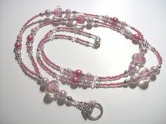 Rose and Raspberry Lanyard