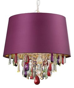 Look at this Purple Drum Crystal Pendant Light on #zulily today!