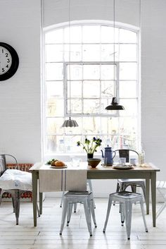 bright kitchen - love the windows