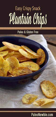 The healthy packaged potato chip replacement! Make these savory chips in minutes… The healthy packaged potato chip replacement! Make these savory chips in minutes to go with guacamole, salsa or your favorite dip. Paleo Whole 30, Whole 30 Recipes, Clean Recipes, Whole Food Recipes, Vegetarian Recipes, Cooking Recipes, Healthy Recipes, Plantain Recipes, Fried Plantain Chips Recipe